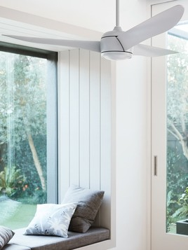 lucci air new nordic ceiling fan in lounge